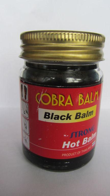 Тайский черный бальзам на основе яда кобры